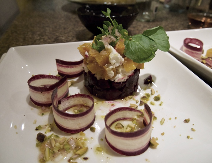 [photo: Beet and goat cheese salad]
