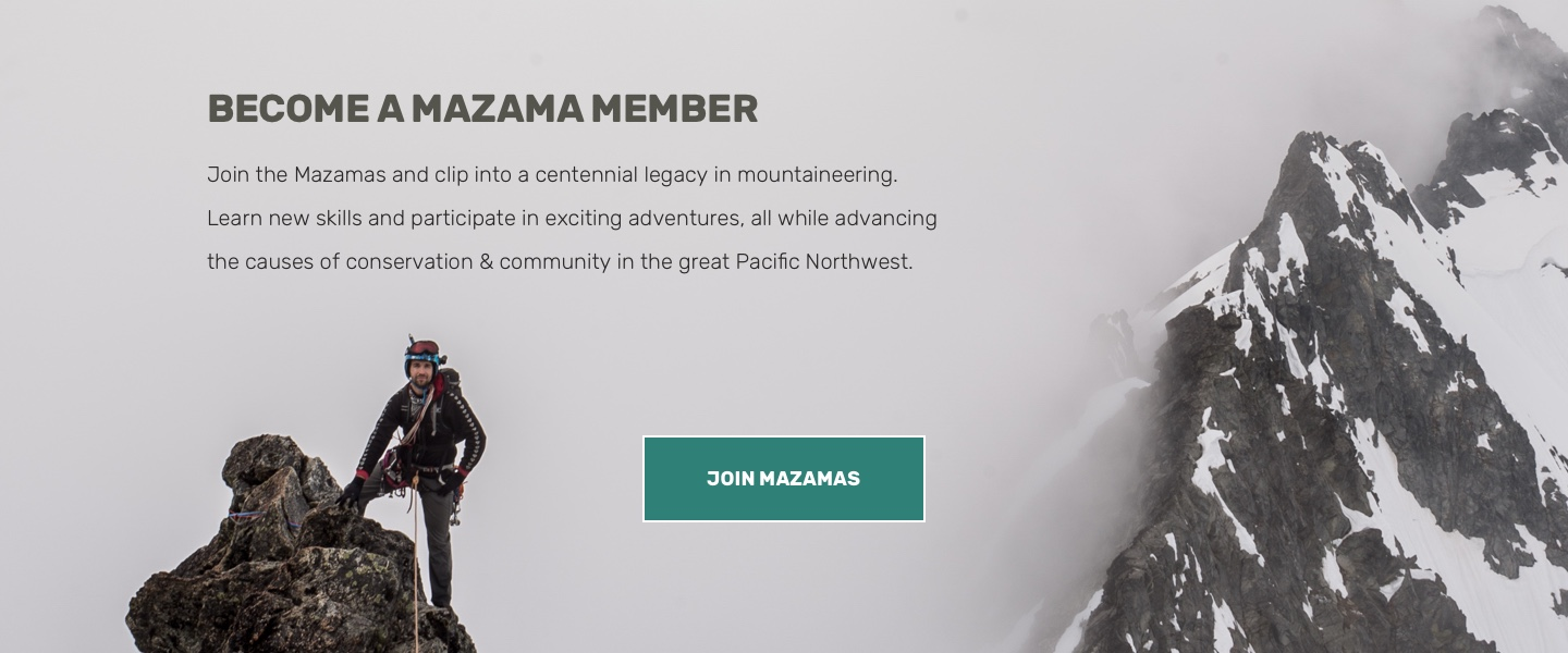 Screenshot: Mazamas Join Call-to-Action